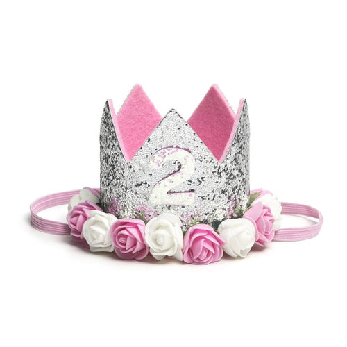 Silver 2nd Birthday Crown