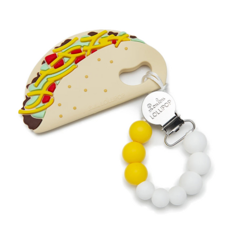 Taco Silicone Baby Teether Set