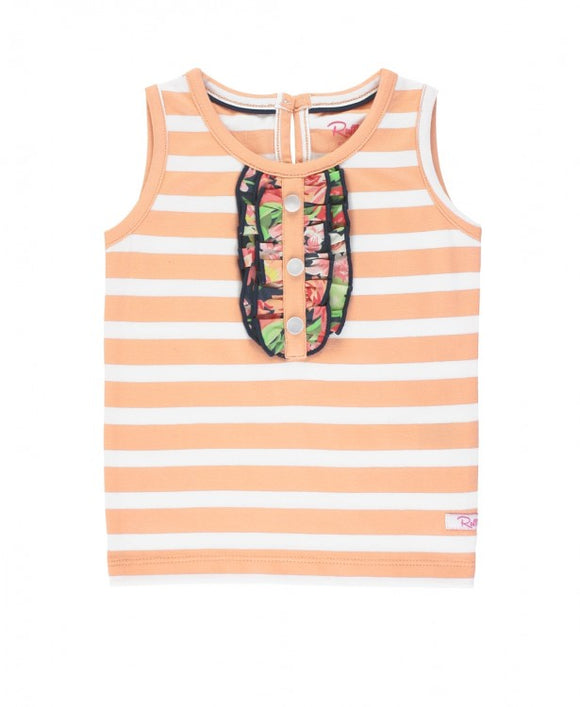 Sunset Garden Peach Stripe Tank