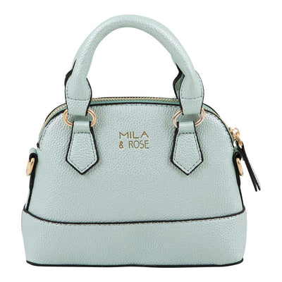 Mila and Rose Purse - Pastel Green Metallic