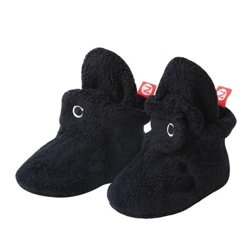 Cozie Fleece Baby Bootie - Black