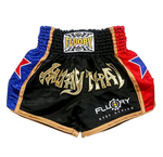 Blue/Red Star V2 Fluory Muay Thai Shorts