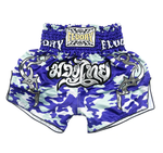 Blue Camo Fluory Muay Thai Shorts