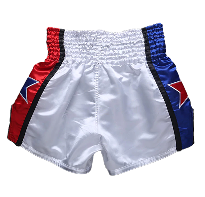 Blue/Red Star Fluory Muay Thai Shorts