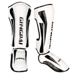 Gingpai White/Black Shin Pads