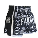 Pop Fluory Muay Thai Shorts (Black)