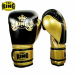 TOP KING Black/Gold Muay Thai Gloves