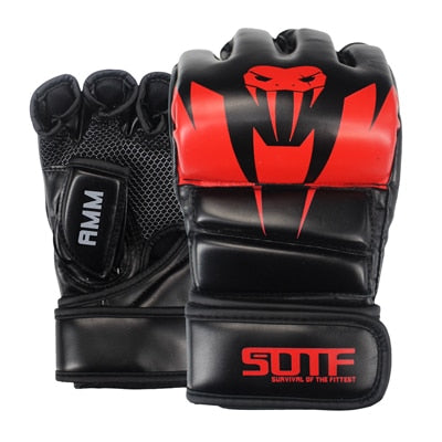 Black/Red SUOTF MMA Gloves