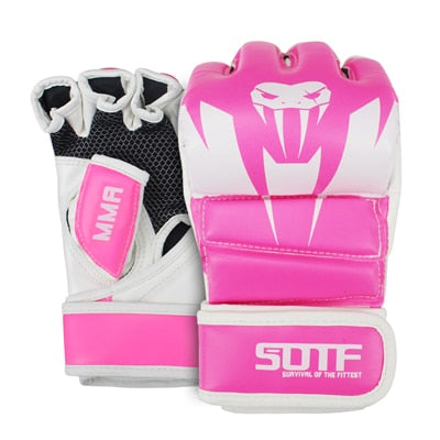 Pink/White SUOTF MMA Gloves
