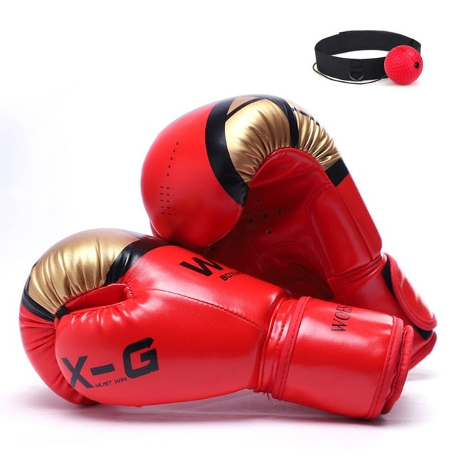 REXCHI Red/Gold Muay Thai Gloves