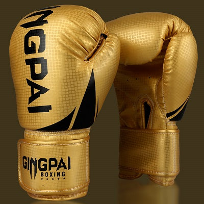 GINGPAI Gold Muay Thai Gloves