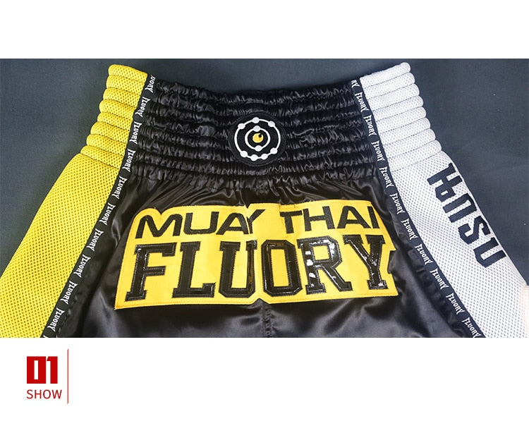 Bumblebee Fluory Muay Thai Shorts
