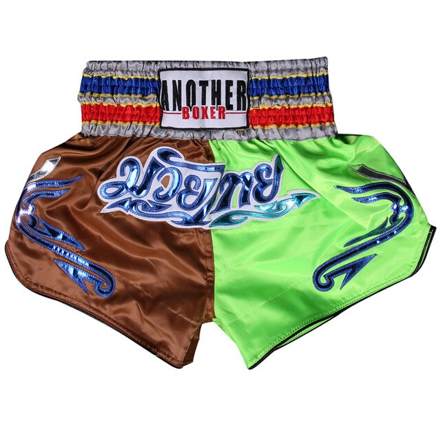 ANOTHER BOXER Brown/Green Muay Thai Shorts