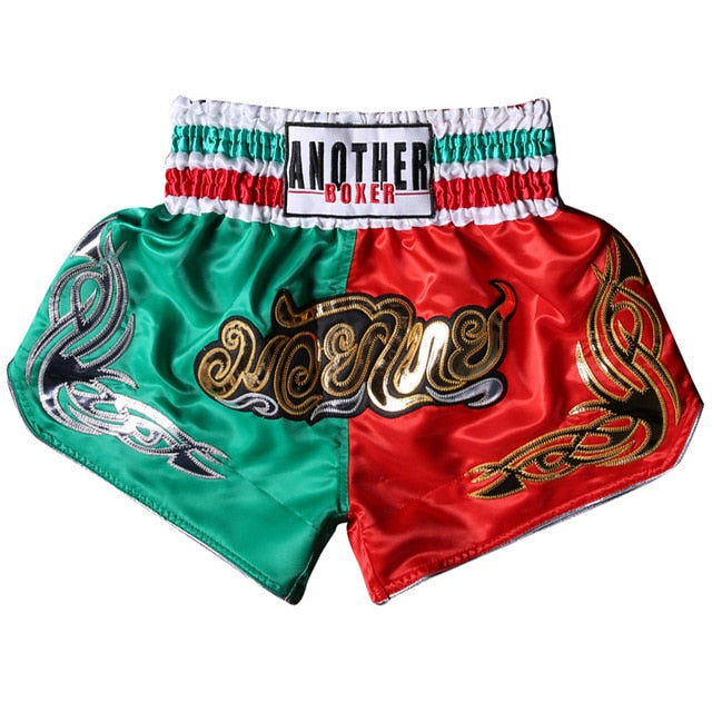 ANOTHER BOXER Green/Red Muay Thai Shorts