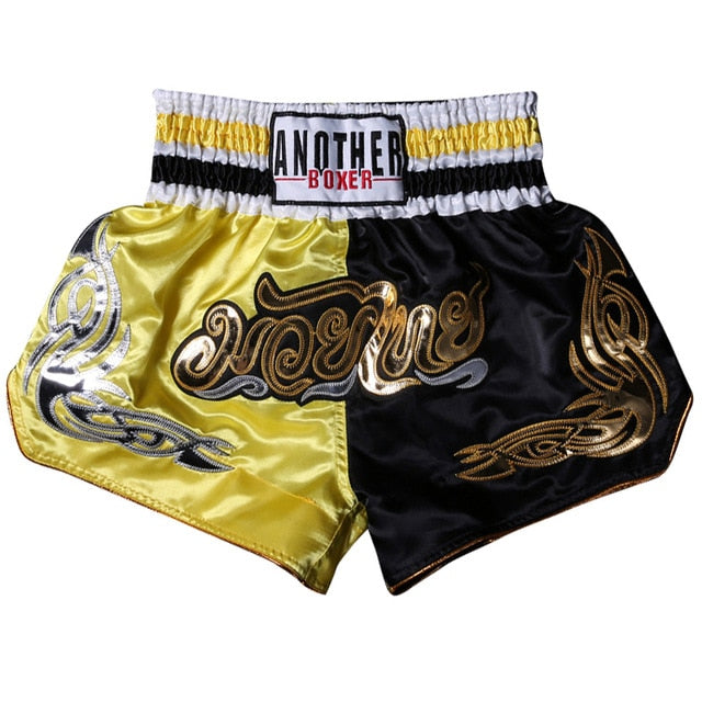 ANOTHER BOXER Yellow/Black Muay Thai Shorts