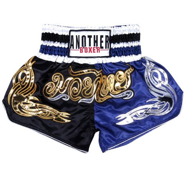 ANOTHER BOXER Black/Blue Muay Thai Shorts