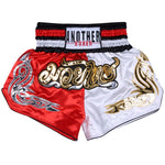 ANOTHER BOXER Red/White Muay Thai Shorts