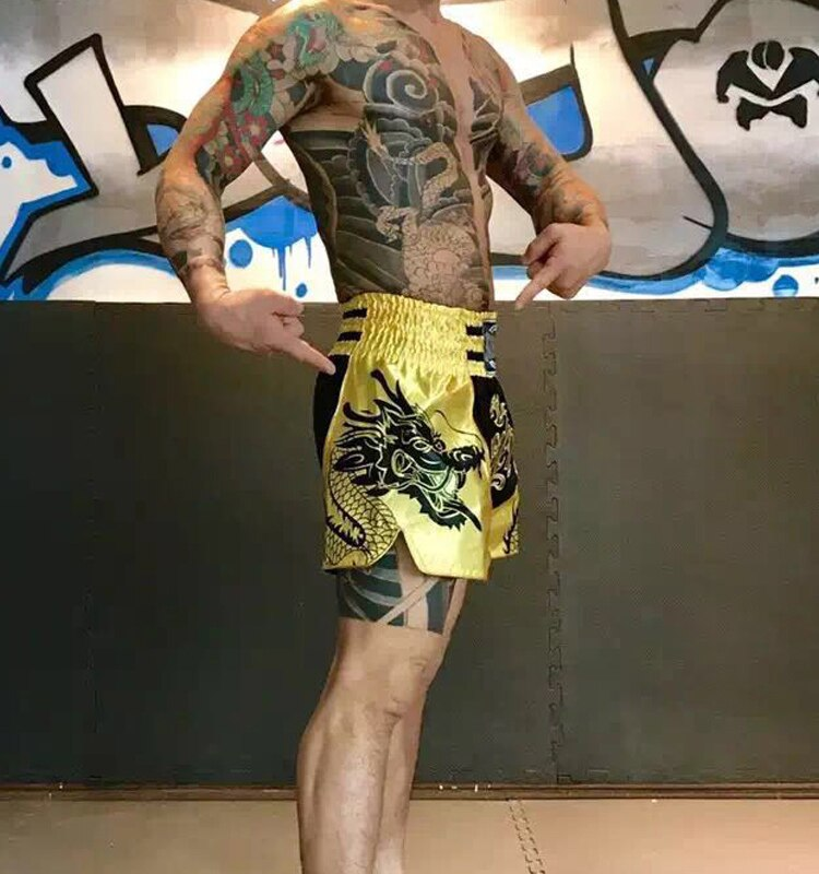 Gold Dragon Muay Thai Shorts