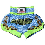 ANOTHER BOXER Light Blue/Lime Vine Muay Thai Shorts
