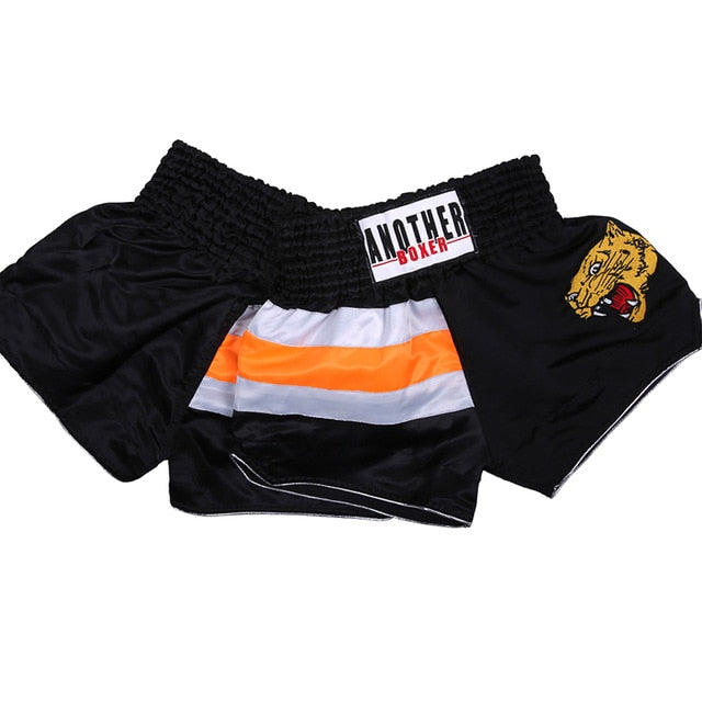 ANOTHER BOXER Fierce Leopard Black Muay Thai Shorts