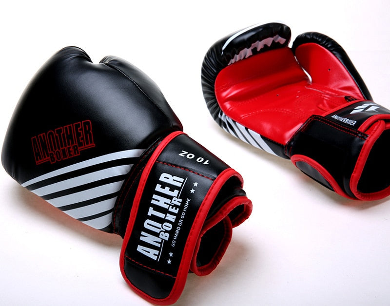 ANOTHER BOXER Dynamic Sky Red/Black Muay Thai Gloves