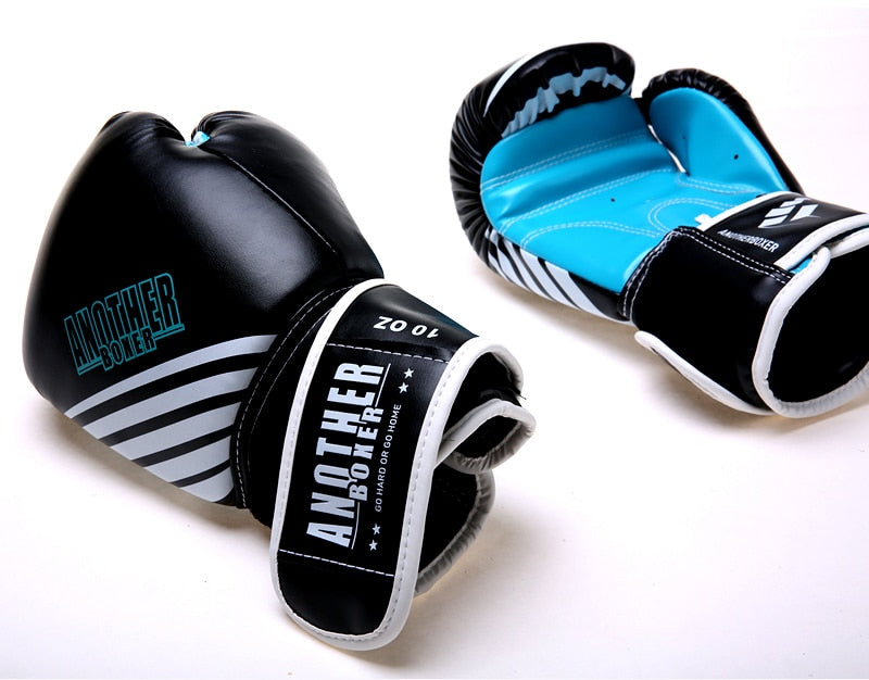 ANOTHER BOXER Dynamic Sky Blue/Black Muay Thai Gloves