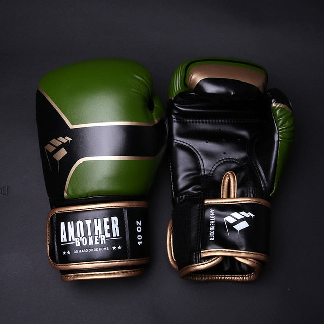 ANOTHER BOXER Buster Green/Black Muay Thai Gloves