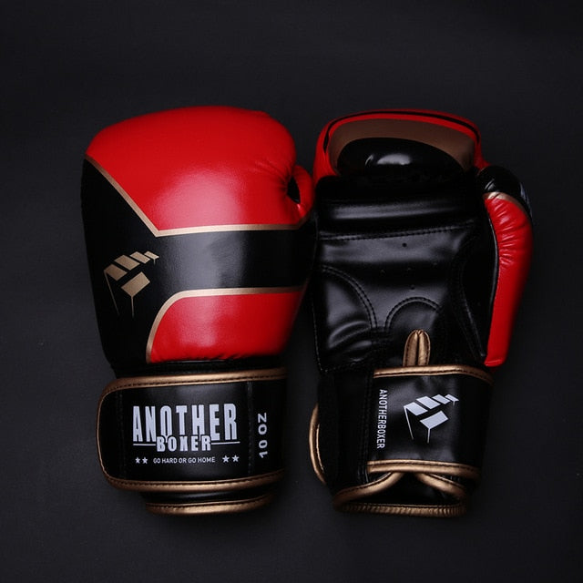 ANOTHER BOXER Buster Red/Black Muay Thai Gloves