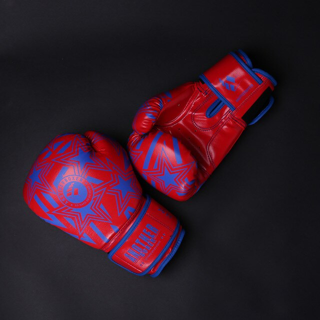 ANOTHER BOXER Star Blue/Red Green Muay Thai Gloves