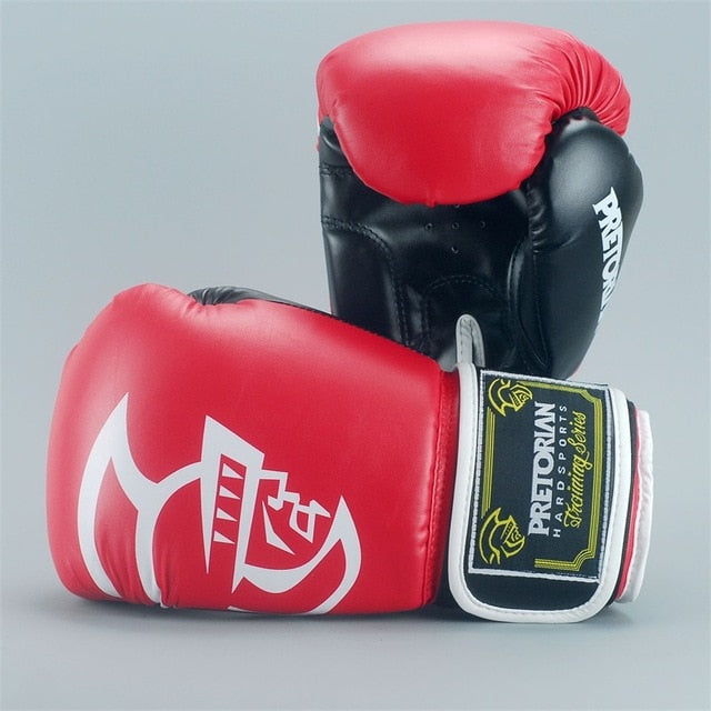 Red/Black PRETORIAN Muay Thai Gloves