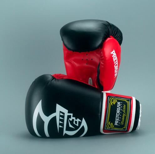 Black/Red PRETORIAN Muay Thai Gloves