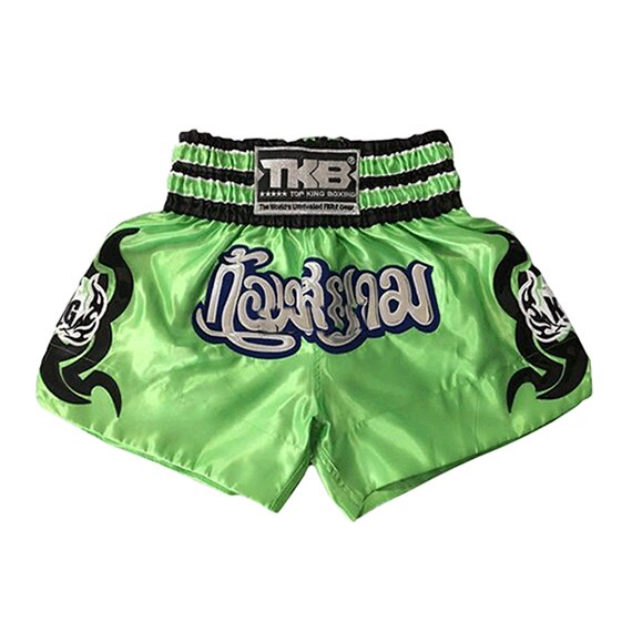 TKB Green/Silver Muay Thai Shorts