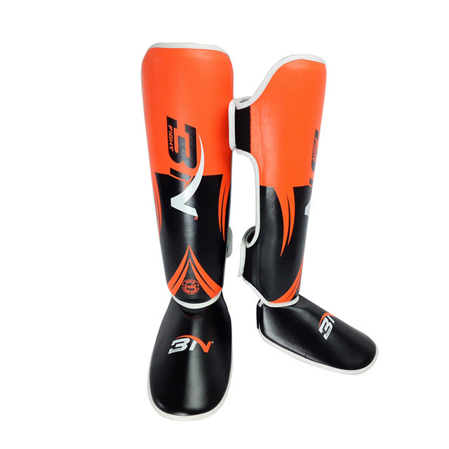 BNPRO Orange/Black Shin Pads