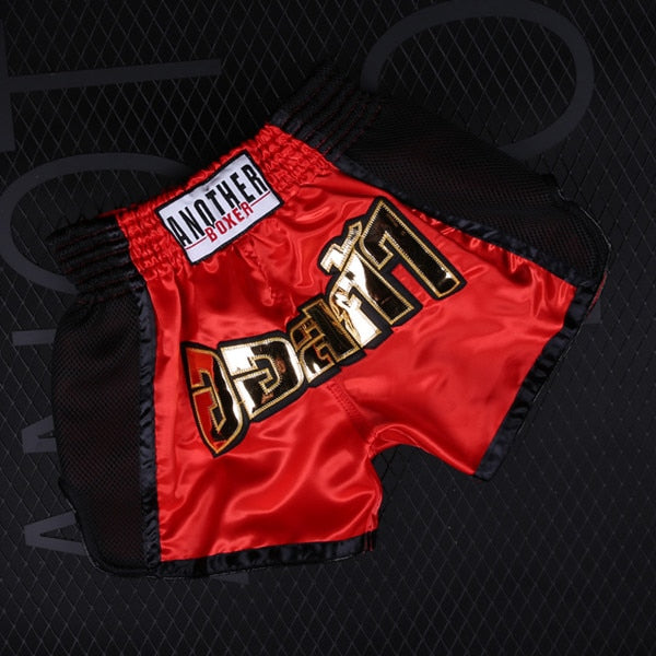ANOTHER BOXER Red/Black Muay Thai Shorts