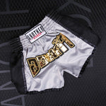ANOTHER BOXER White/Black Muay Thai Shorts