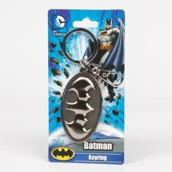 Batman Shield Logo Pewter Llavero