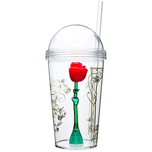 Beauty And The Beast  Vasos Con diseño de rosas, 236 ml