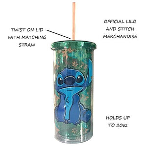 Disney Lilo and Stitch Tropical Stitch 20oz -Vazo Acrílico