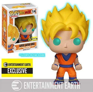 Funko Pop - Dragon Ball Z Glow-in-the-Dark Super Saiyan Goku Pop!