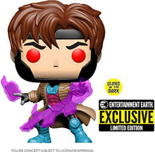 Cargar imagen en el visor de la galería, Pop Exclusive X-Men Gambit Glow-in-The-Dark Exclusivo EE