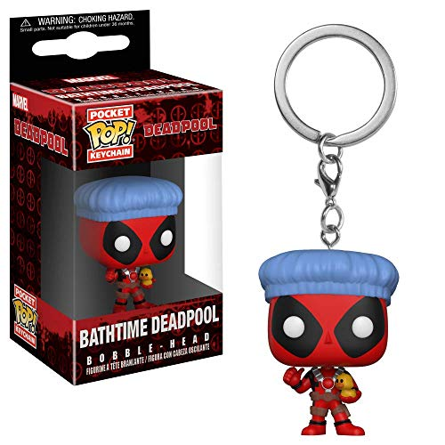 Funko Pop! Llavero Playtime-Deadpool Bath Time