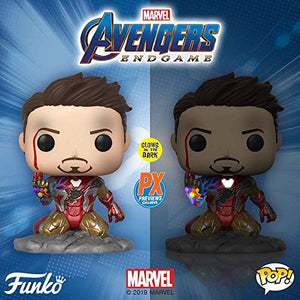 Funko Pop!  Avengers Endgame -I Am Iron Man Glow in The Dark -PX