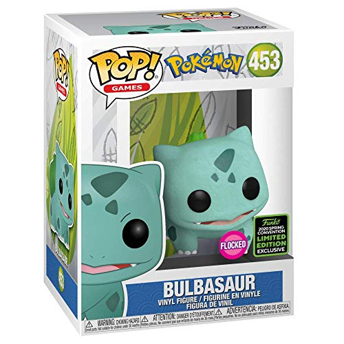Funko Pop! Games: Pokemon – Flocked Bulbasaur, Spring Convention Exclusive