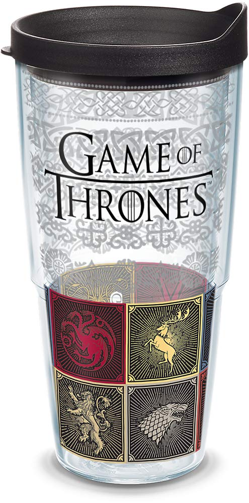Game of Thrones Tapa negra, Transparente, 16oz - Tritan, 1