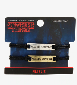 SET  DE 2 PULSERAS STRANGER THINGS LOUNGEFLY