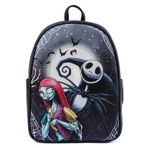 Loungefly Disney The Nightmare Defore Christmas Jack y Sally- Mini Mochila