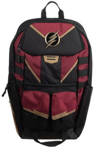 The Flash Black and Maroon Backpack -Mochila Flash