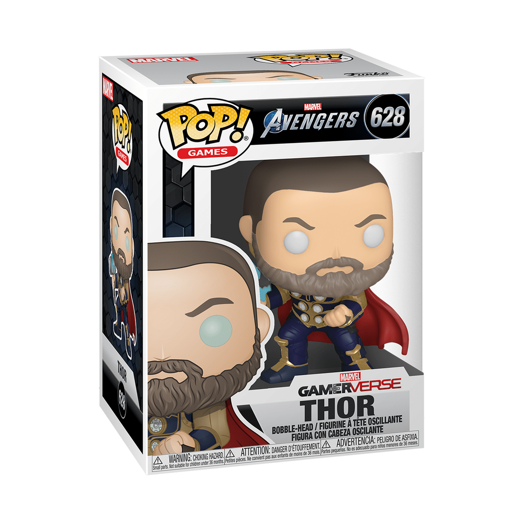 Funko Pop! Marvel: Avengers Game - Thor (Stark Tech Suit), Multicolor