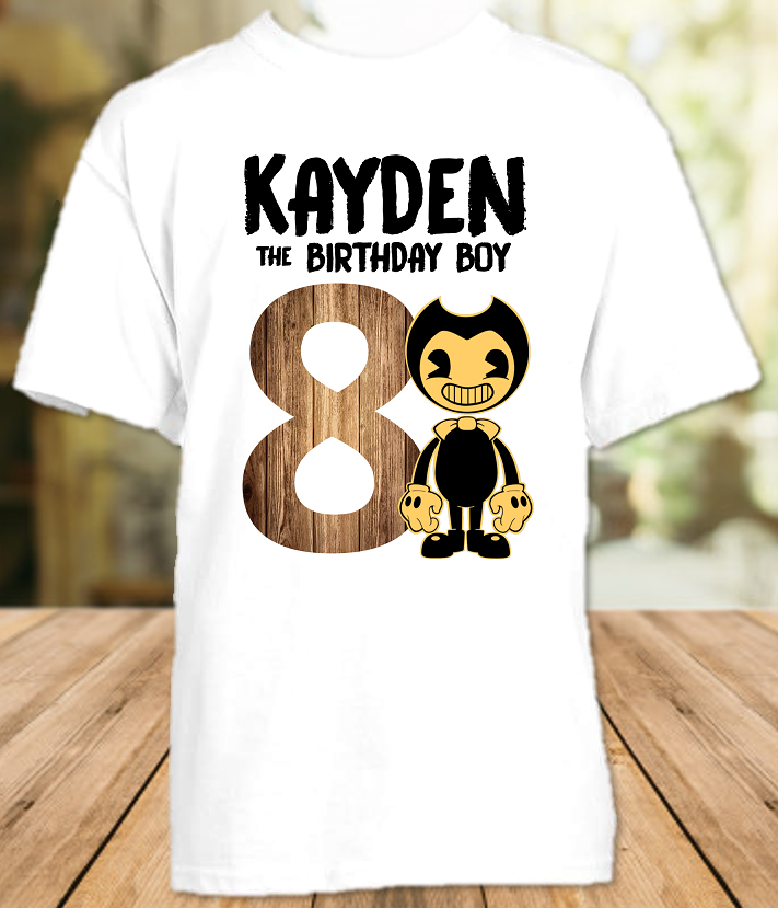 Bendy and The Ink Machine Birthday Party Personalized T Shirt or Onesie - All Sizes Available
