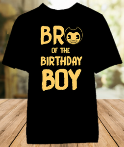 Bendy and The Ink Machine Birthday Party Sibling Brother Color T Shirt - All Sizes Available